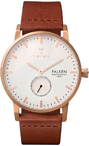 Triwa Rose Falken Unisex Watch with Brown Classic Leather Band FAST101 CL010214