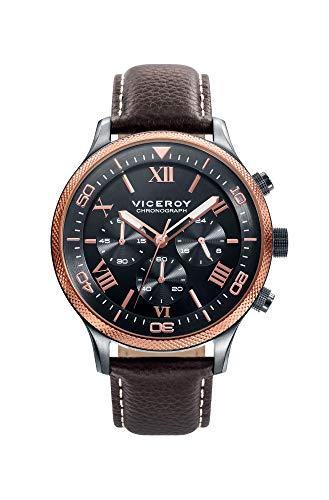 Reloj Viceroy para Hombre con Correa Marron y Pantalla en Negro 471155-53