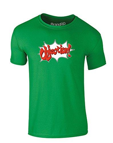 Objection, Kind-druckten T-Shirt - Grün 5-6 Jahre (Ace Attorney 5)
