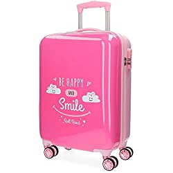 Roll Road Happy Equipaje de Mano, 54 cm, 33 Litros, Rosa