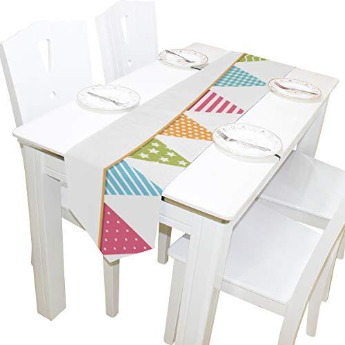 Decor Kommode Schal Tuch Abdeckung Tischläufer Tischdecke Tischset Küche Esszimmer Wohnzimmer Home Hochzeitsbankett Decor Indoor 13x90 Zoll ()