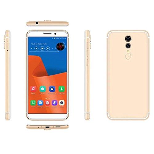 Wawer Doppel-Sim u. 2G / 3G / 4G Netz 1 + 16G entriegelt 4G Smartphone HD androiden Handy für Gerades Gespräch ATT TMobile Maße 155.5 * 74 * 8.7mm (Gold) Att Mobile-handy