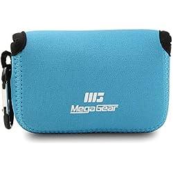 MegaGear ''Ultra Light'' Neoprene Sac photo Housse Étui sacoche pour Canon G16, G15, SX170 IS, SX160 IS, SX720 HS, SX710 HS, SX700 HS, Sony DSC-HX50, DSC-HX60V (Bleu)