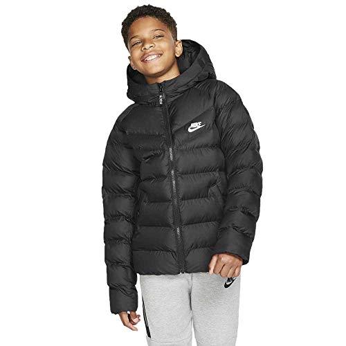 Nike Kinder Filled Jacke, Black/White, M
