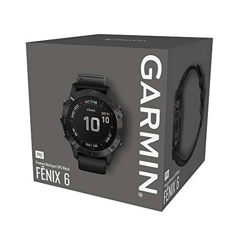 Garmin Fenix 6 Pro - Reloj inteligente con GPS para outdoor, color negro con correa negra