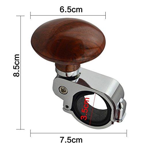 FomCcu Boule assistée pour le volant de voiture, bouton de poignée pour faciliter la manipulation du véhicule