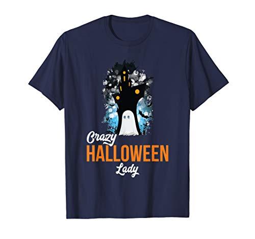 Kostüm Lustig Unheimlich - Verrücktes Halloween Lady Unheimliches Kostüm Lustiges Humor T-Shirt