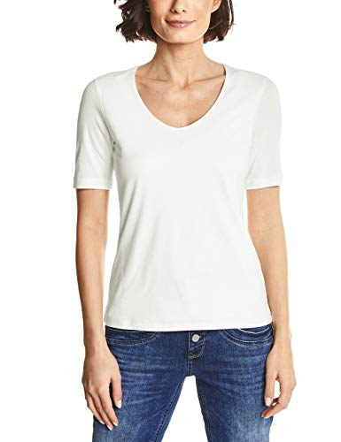 Street One Damen T-Shirt 313104 Palmira, Elfenbein (Off White 10108), 42