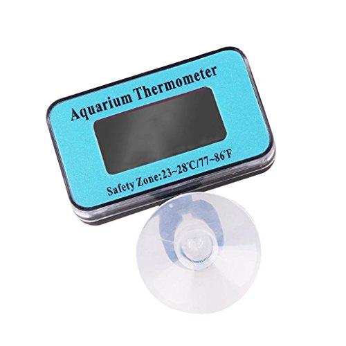 Gazechimp Digital LCD Aquarium Thermometer Wasserdicht Tauchfähig mit Saugnapf für Terrarium Fische Aquarium Wasser