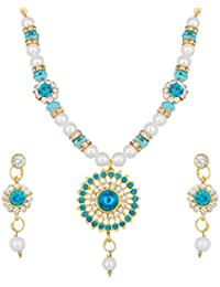 Alloy Blue Necklace Set - B078H8VJVD