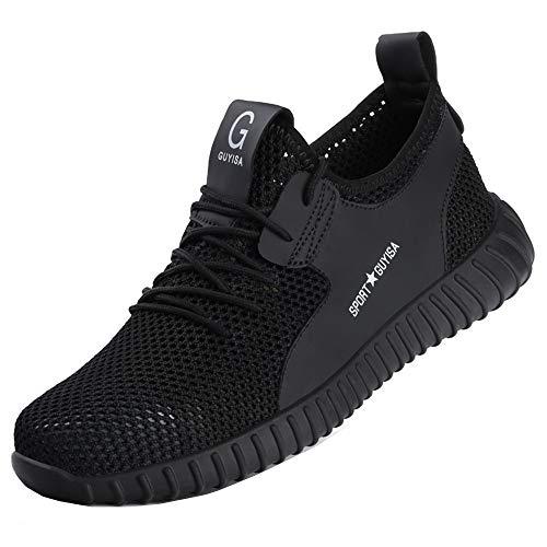 Ayqyc Sicherheitsschuhe Herren S3 Arbeitsschuhe Damen Leicht Atmungsaktiv Schutzschuhe Stahlkappe Sneakers