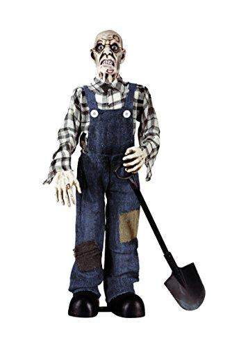 ngräber Zombie, Größe circa 75 cm (Totengräber Kostüm)