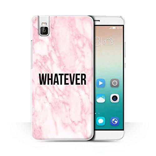 Stuff4® Hülle/Case für Huawei Honor 7i/ShotX/Whatever Muster/Komisch Marmor Diva Mode Kollektion