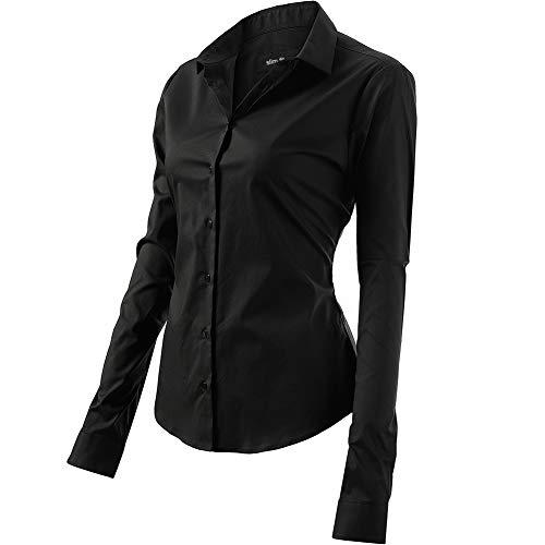 Camicia Basic da Donna in Cotone Manica Lunga - Camicetta ceb023c23fff