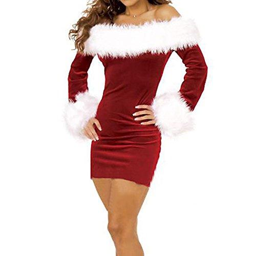 VENI MASEE Frauen sexy Geheimnis Santa Kostüm / Frau Fräulein christmas santa Kostüm Kostüm Outfit rot01