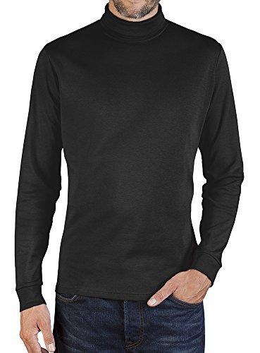 Langarmshirt mit Rollkragen Herren, L, Schwarz (Herren Rollkragen-pullover)
