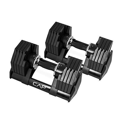 ADJUSTABELL® Hanteln von Cap, verstellbar von 2,5-22,6 kg, 1 Paar (Cap Hantel Gewicht Set)