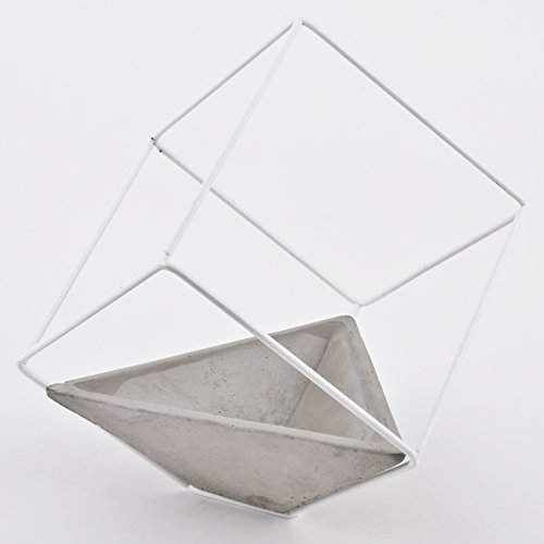 topf-wurfel-modern-design-steinguss-metall-grau-weiss-blume-pflanzen-deko-24x24x24cm