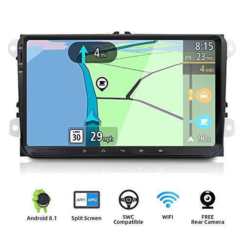 YUNTX Android 8.1 Autoradio Compatible con Golf/Skoda/Seat - GPS 2 DIN -...