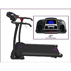 Cinta de correr plegable 1500W 0-14 kmph entrada MP3 y dos altavoces sujeta iPad