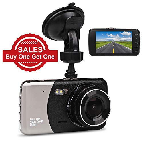 Car Dash Cam, JC Beauty[New Upgrade Version] 170°Wide Angle Front and Rear Dual Lens Digital Mini Camera DVR 1080P Full HD, For Video Loop Recording Dashboard, Built in G-Sensor, Park Monitor