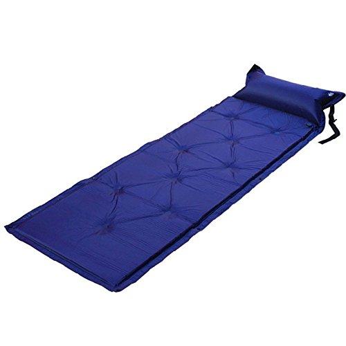 LNIMIKIY Selbstaufblasende Matratze, aufblasbar, für den Außenbereich, Schlafkissen, Luftmatratze, Zelt, Picknick, Camping, Wandern Matte, Königsblau (16x28 Kissen Legen)