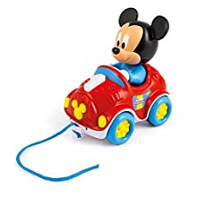 Clementoni- Disney Baby Mickey-Ma Voiture à Tirer, 17208, Multicolore