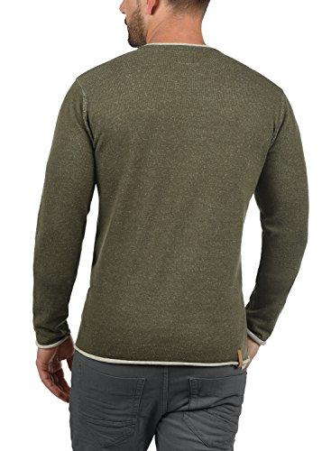 Redefined Rebel Maxen Herren Strickjacke Cardigan Feinstrick Mit V-Ausschnitt Und Knopfleiste Aus 100% Baumwolle Slim Fit, Größe:XXL, Farbe:Dark Olive