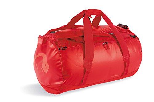Tatonka Barrel XL Reisetasche - 110 Liter - wasserfeste Tasche aus LKW-Plane mit Rucksackfunktion und großer Reißverschluss-Öffnung - große Rucksacktasche - unisex - rot -