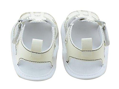 DEHANG Sommer weiche Sohle Baby Sandale Innenhaus Lauflernschuhe 13cm Weiß#1