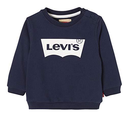 Levi's Kids Baby-Jungen Nn15004 48 Sweat Shirt Sweatshirt, Blau (Dark Blue), 18-24 Monate (Herstellergröße: 24M) 20% Polyester Sweatshirt
