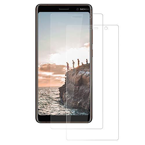 FayTun 2 Pack Nokia 7 Plus Pellicola Protettiva, Pellicola Vetro Temperato Nokia 7 Plus Schermo Screen Protector con durezza 9H-Anti-Impronte e Anti-Bolle per Nokia 7 Plus