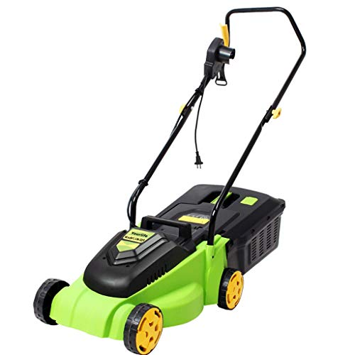 cortacéspedes rotativos/cortacésped eléctrico/desbrozadora multifunción/cortacésped rotativo 1600w / caja de césped de alta eficiencia de 30 litros, verde