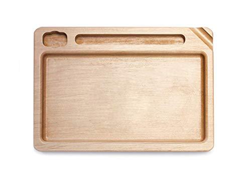 Wood Manufacture Rolling Tray | Echtholz Drehunterlage Mischschale mit Platz für Feuerzeug, Papers und Joint | Rolltablet Rollingtray Tablet