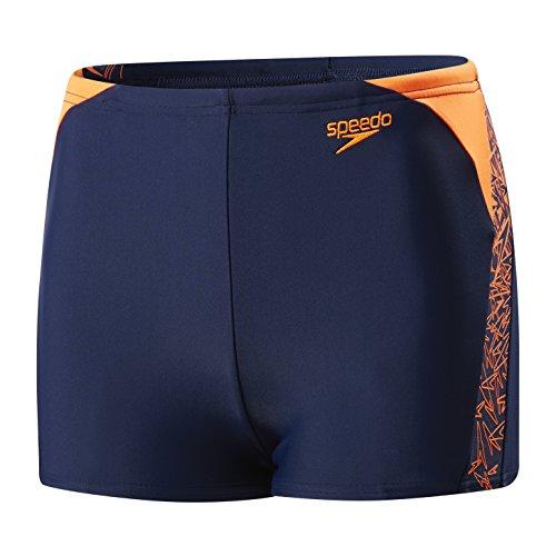 Speedo Schwimmen Kostüm - Speedo Baby Boom Spl ASHT Jm Badeanzug, Navy/Fluro Orange, 104 EU