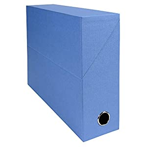 Exacompta A4 Canvas Transfer Box, 90 mm Spine, Light Blue