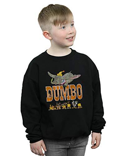(Disney Jungen Dumbo The One and Only Sweatshirt Schwarz 7-8 years)