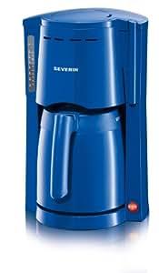 Severin - 4118 - Cafetière isotherme - 800 W - 2 verseuses isothermes de 1l. chacune - bleu