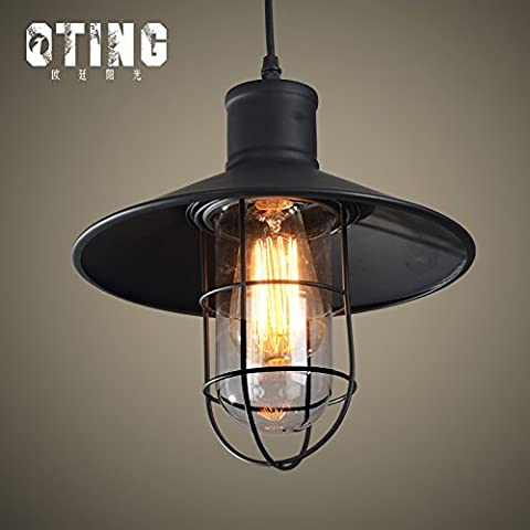 Ancernow E27 caldo creativo moda lampade a sospensione Lampadari Seppia singolo rack Rail #12-2043
