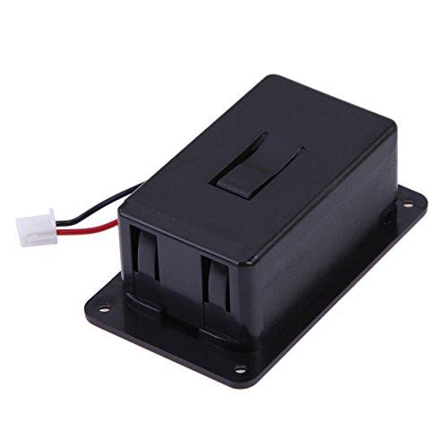 broadroot 1BASS 9V Batterie-Box Case Cover Halter für Gitarren-Tonabnehmer schwarz (Protable-batterie)