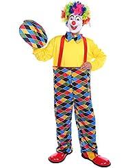 NiSeng disfraz halloween Disfraces de payaso de circo adultos Checkered payasos para cumpleaños Clown Checkered Carnaval Cosplay