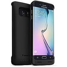 PowerBear Funda de Batería Recargable Extendida Samsung Galaxy S6 EDGE [3500mAh] Batería de Alta Capacidad (Hasta 125% de Batería Extra) - Negra [24 Meses de Garantía y Protector de Pantalla Incluido]