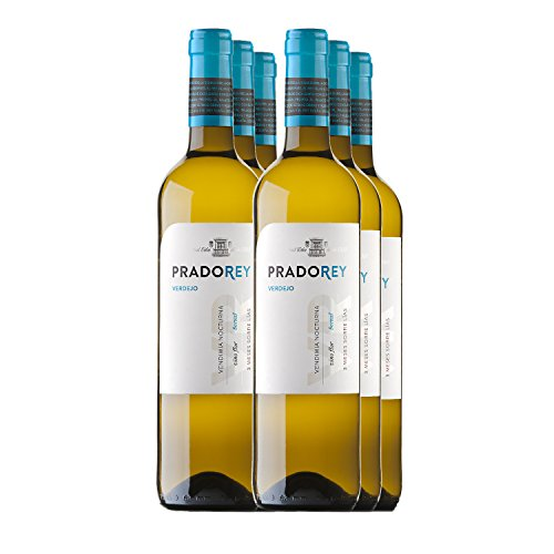 Pradorey Verdejo - Vino Blanco - Verdejo - Vino De La Tierra De Catilla Y León - Vendimia Nocturna - Elaboración Con Sistema Boreal - 6 Botellas - 0,75 L
