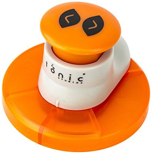Tonic Studios, 981E, Fustella per angoli, due diametri, colore: Bianco/Arancione - Punch Studio Carte