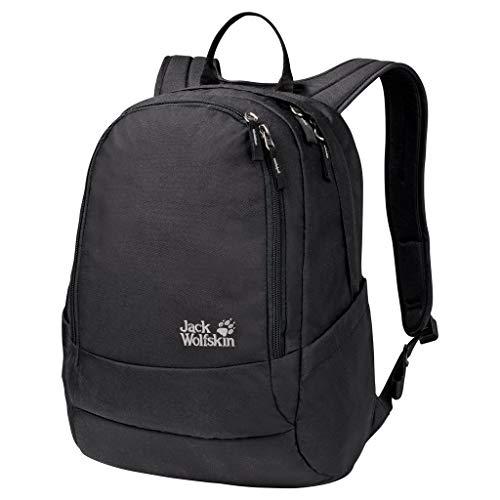 Jack Wolfskin Perfect Day, bequemer Rucksack mit breiten Gurten, DIN-A4-tauglicher Tagesrucksack, Backpack mit guter Lastenverteilung für Alltag und Freizeit, black, ONE SIZE
