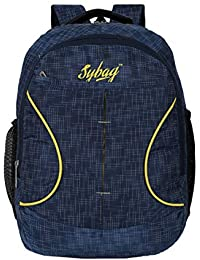 Sybag Navy Check Casual Laptop Bag