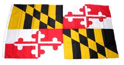 Preisvergleich Produktbild Fahne / Flagge USA Maryland NEU 90 x 150 cm Flaggen