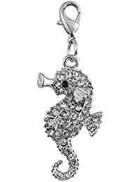 ENT Joya sea horse con diamantes - art. EL28088 - Lon. 4,5 cm - Anc. 2 cm - Alt. 0,5 cm - Ten by Varotto & Co.