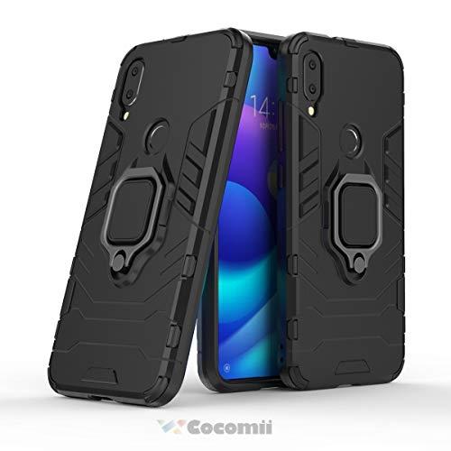 Cocomii Black Panther Armor Xiaomi Mi Play Custodia Nuovo [Robusto] Tattico Anello Metallico Cavalletto [Funziona con Il Supporto Magnetico per Auto] Case Paraurti for Xiaomi Mi Play (B.Jet Black)