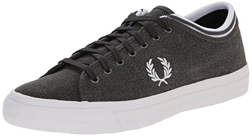 Fred Perry Herren Kendrick Tipped Cuff Pigment Dyed Canva Anthrazit